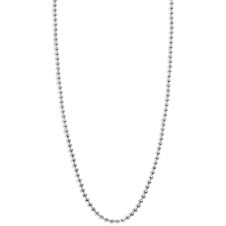 Disco Chain in Sterling Silver - 1.2 mm