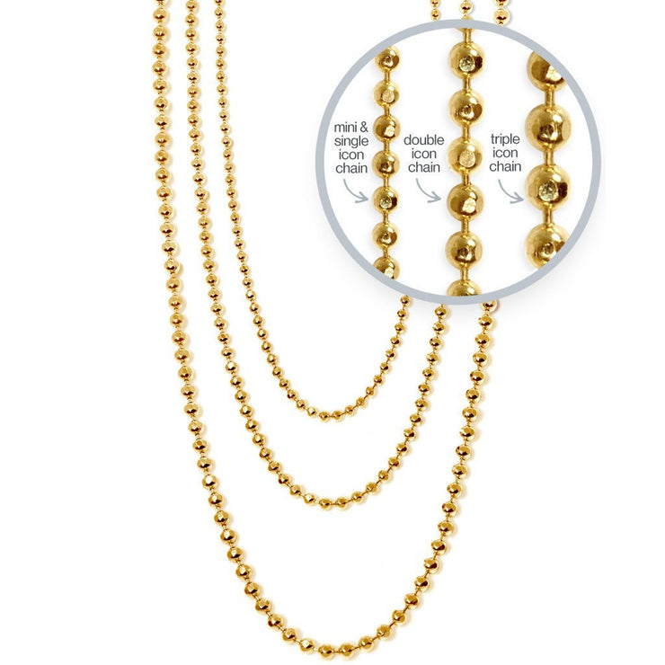 Disco Chain in 14kt Gold - 1.5 mm