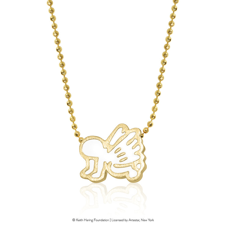 Keith Haring 14kt Yellow Gold Angel Baby