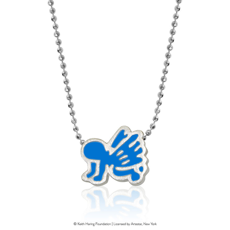 Keith Haring Sterling Silver Angel Baby