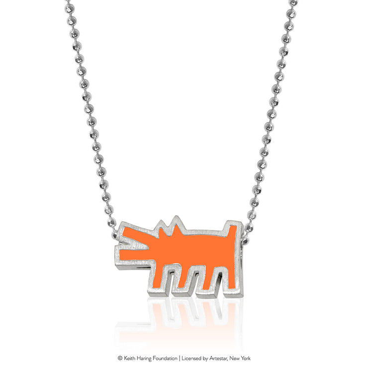Keith Haring Sterling Silver Barking Dog