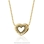 Keith Haring 14kt Yellow Gold Radiant Heart
