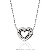 Keith Haring Sterling Silver Radiant Heart