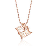 Rose Gold Little Activist PINK Breast Cancer Awareness Ribbon Pendant Necklace