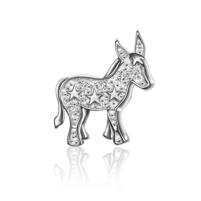 14k White Gold & Diamonds Activist Donkey