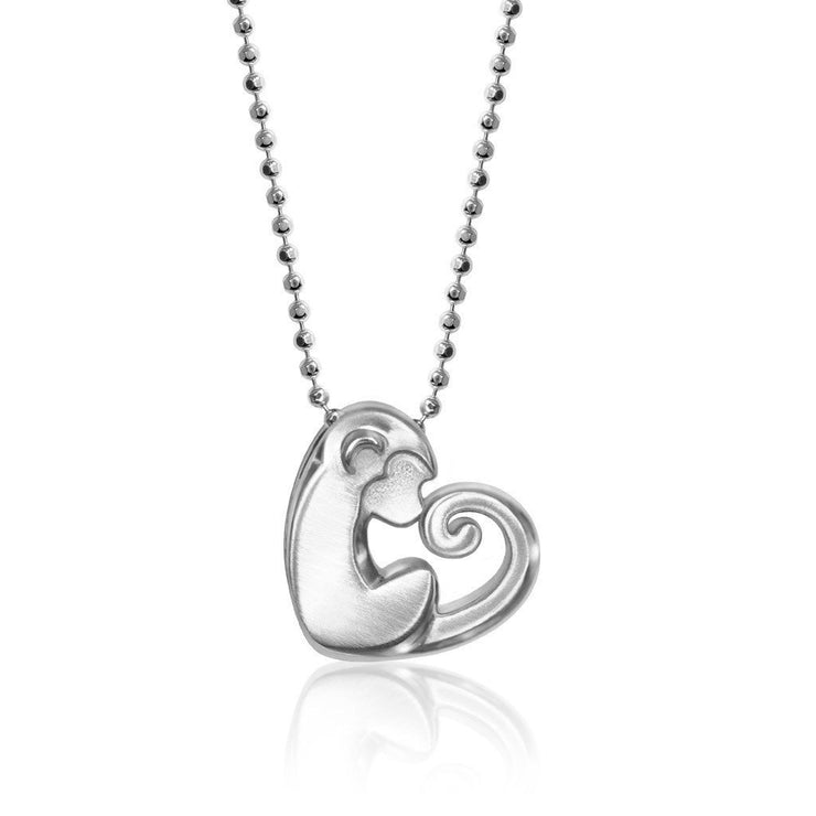 Sterling Silver Activist Love Monkey Pendant Necklace