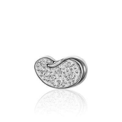 14k White Gold & Diamonds Cities Bean