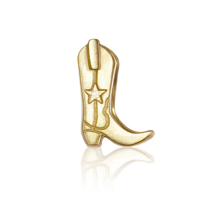 14k Yellow Gold Cities Cowboy Boot