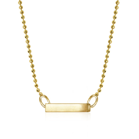 Gold Elements Side Bar Minimal Necklace