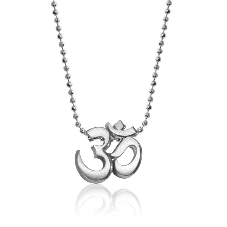 Sterling Silver Faith Om