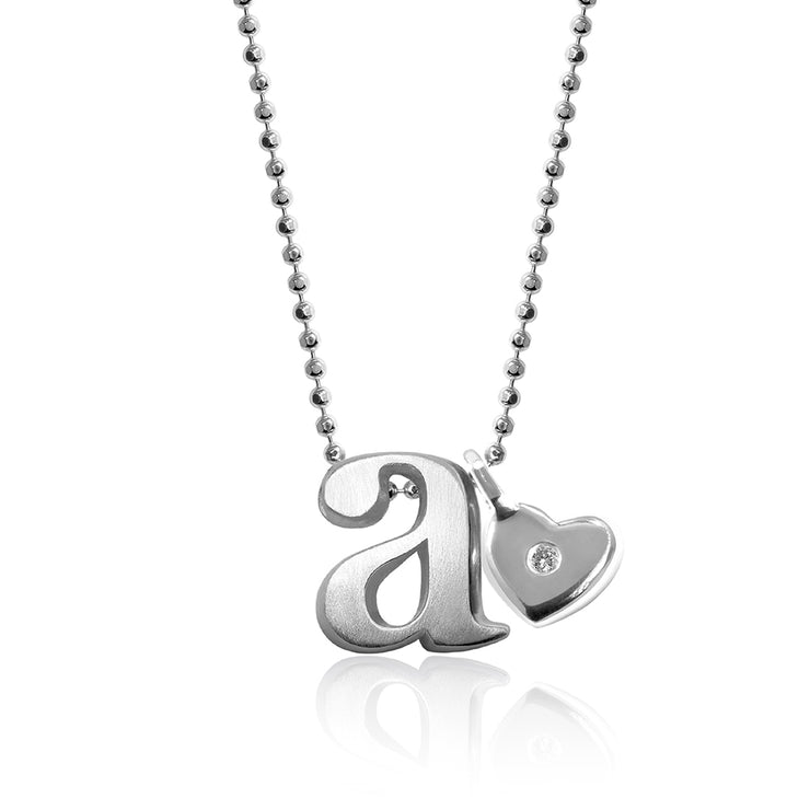 Sterling Silver Little Letter with Mini Additions™ Heart