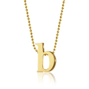 18K Yellow Gold Little Letter