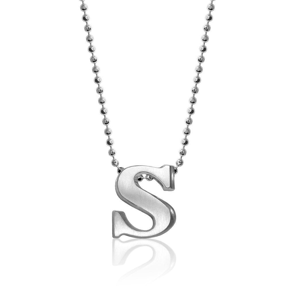 chain s owned diamond product inch with pendant preowned letter necklace pre