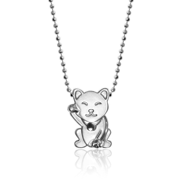 Sterling Silver Luck Lucky Cat