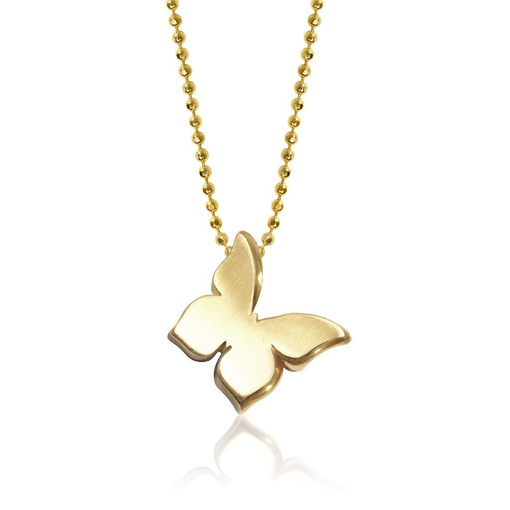 Princess butterfly alex woo jewelry gold little princess butterfly charm pendant necklace aloadofball Image collections