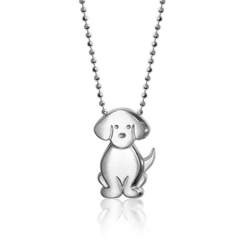 Sterling Silver Little Signs Dog Puppy Charm Pendant Necklace