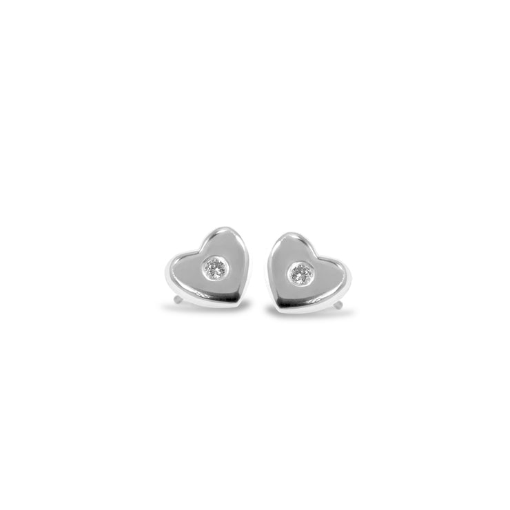 Mini Addition Heart Earrings