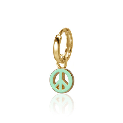 Mini Peace Sign Huggie