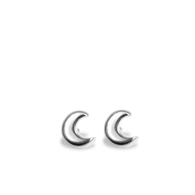 Mini Addition Moon Earrings