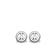Mini Addition Peace Sign Earrings