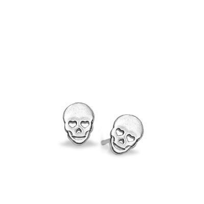 Mini Addition Skull Earrings