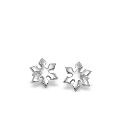 Mini Addition Snowflake Earrings
