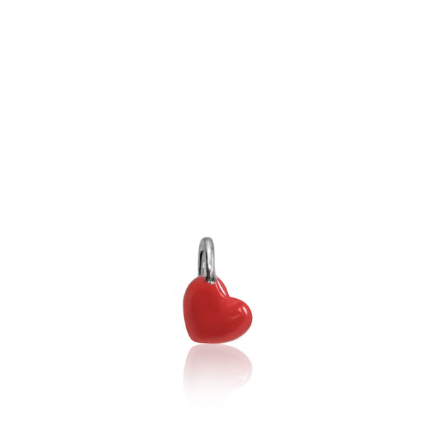 Red Enamel Mini Addition Heart Charm