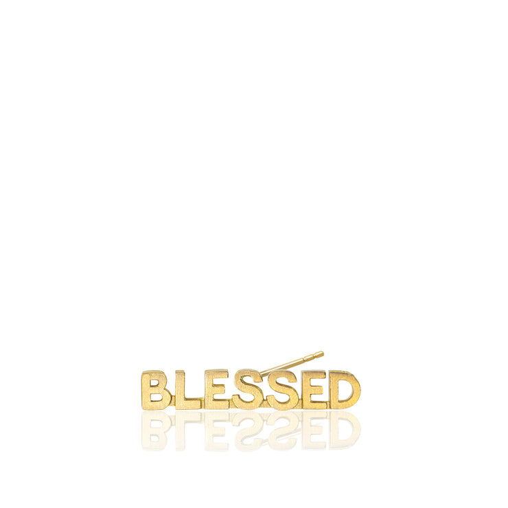 Mini X Blessed Single Stud Earring