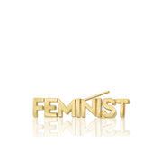 Mini X Feminist Single Stud Earring