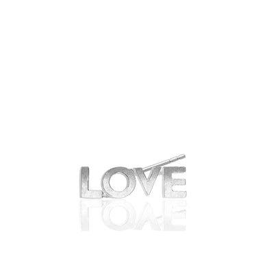 Mini X Love Single Stud Earring