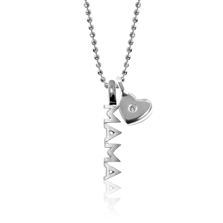 Sterling Silver Mini X Mama with Mini Additions™ Heart