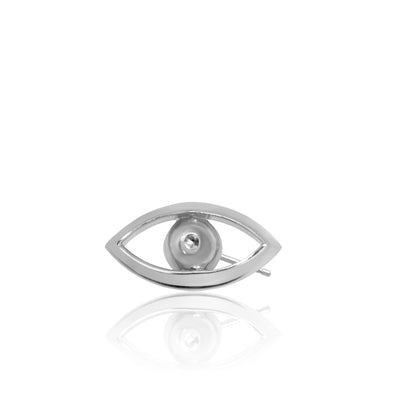 Mini X Evil Eye Single Stud Earring