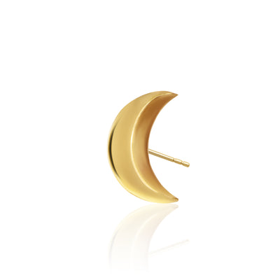 Mini X Moon Single Stud Earring
