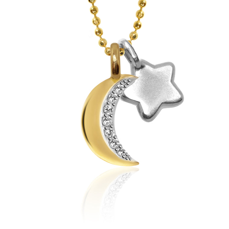 Mini X Moon and Mini Additions™ Star Cluster Necklace