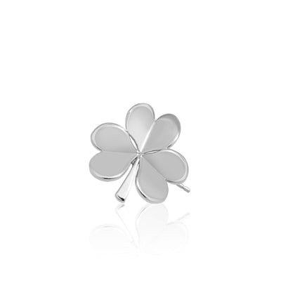 Mini X Shamrock Single Stud Earring
