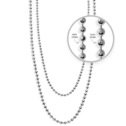Mini 1.2 mm Disco Chain in Sterling Silver