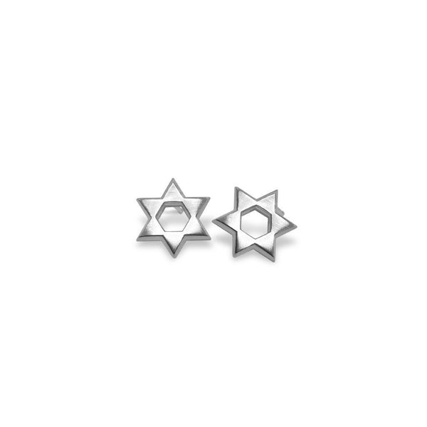Mini Addition Star of David Earrings
