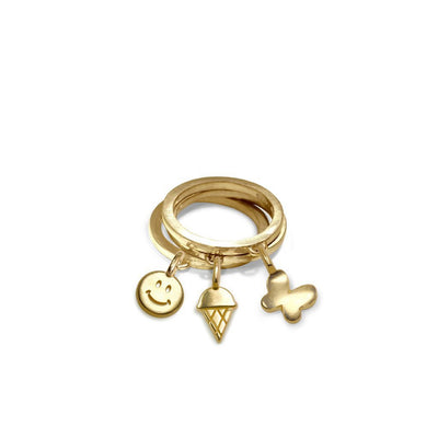 Custom Gold Mini Addition Shape Rings