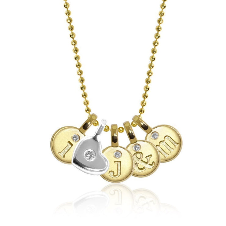 Mini Additions™ Letter I Heart Cluster Necklace