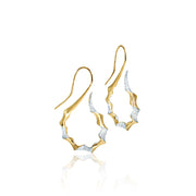 Sweni 14kt Yellow Gold and Diamond Horn Earrings