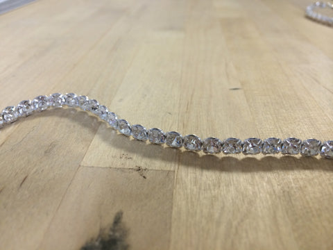1 Row Clear Swarovski Crystal Trim
