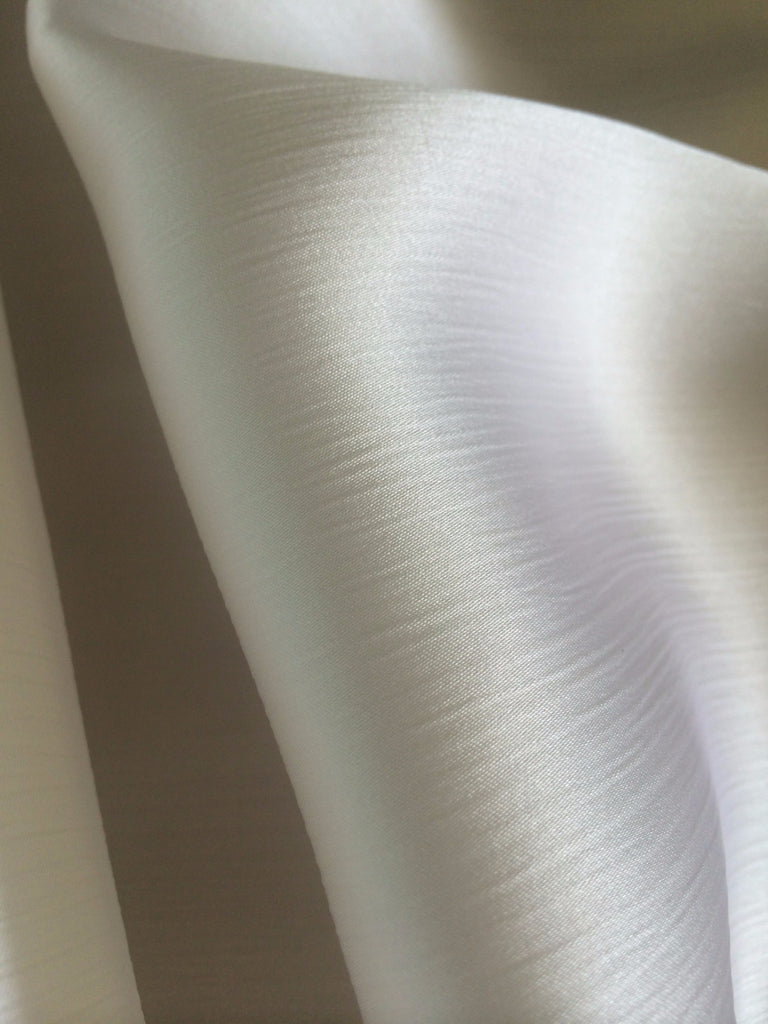 Silk Crinkle Satin- White