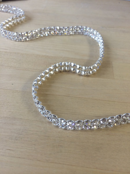 2 Row Clear Swarovski Crystal Trim