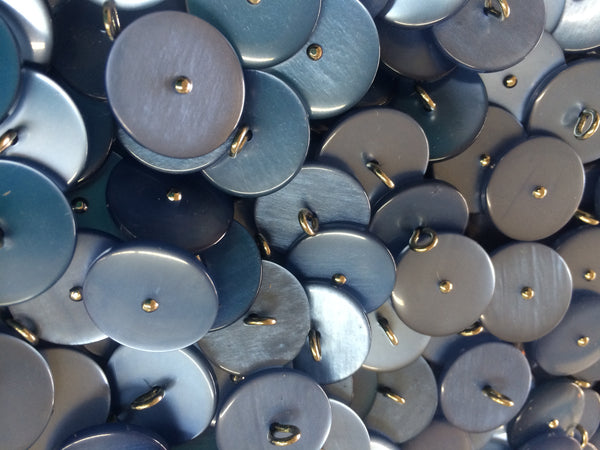 Round buttons with gold embellishment Buttons