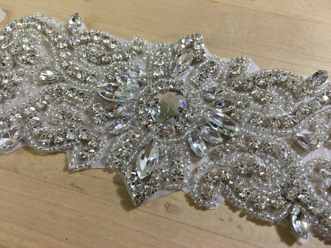 Rhinestone Applique Belt