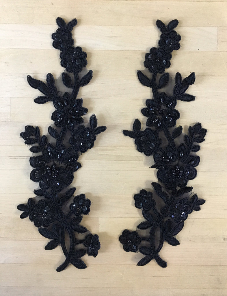 Black Beaded Applique