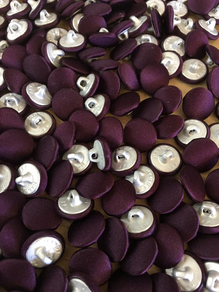 Eggplant Covered Vest Buttons