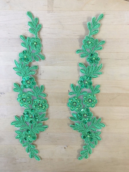 Green Beaded Applique