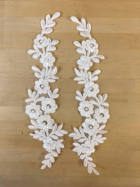 Ivory Beaded Applique