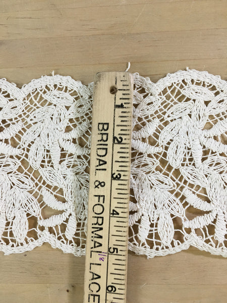 Ivory battenburg lace